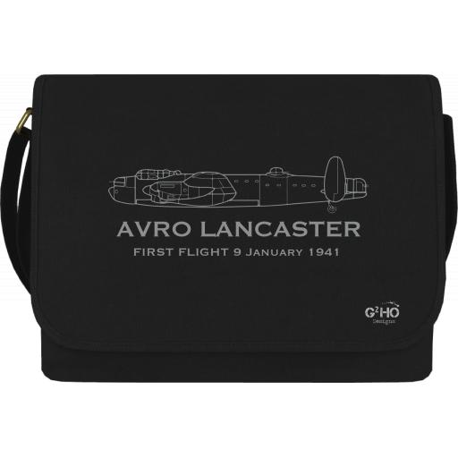Avro Lancaster Classic First Flight Canvas Messenger Bag