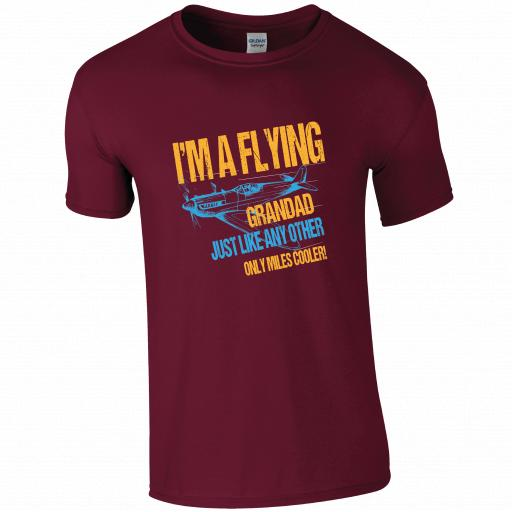 I'm a Flying Grandad, Just like any other, miles cooler, Pilot Humour T-shirt