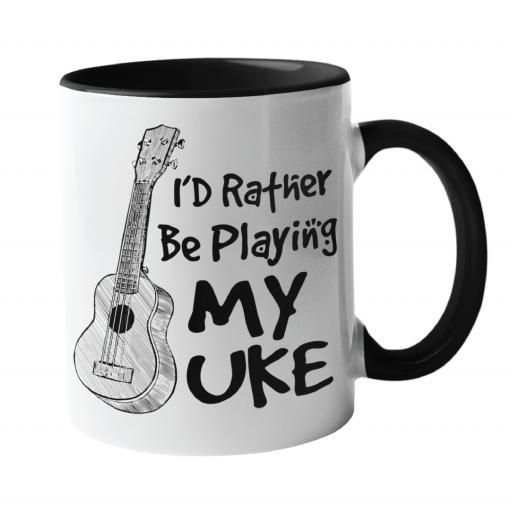 I'd Rather Be Playing with my uke, Music Mug