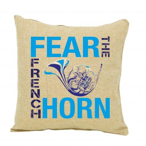 Fear The French Horn Cushion