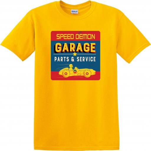 Speed Demon Garage Parts and Services T-shirt