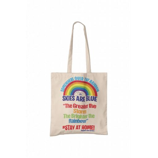 Somewhere over the Rainbow, Skies are Blue Tote Bag