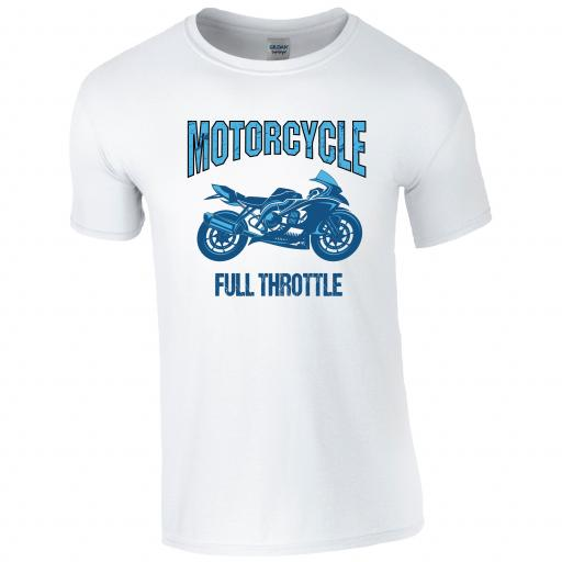 Full Throttle Motorcycle T-Shirt