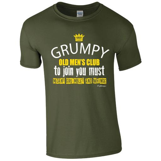 Grumpy old men's club Humour T-shirt