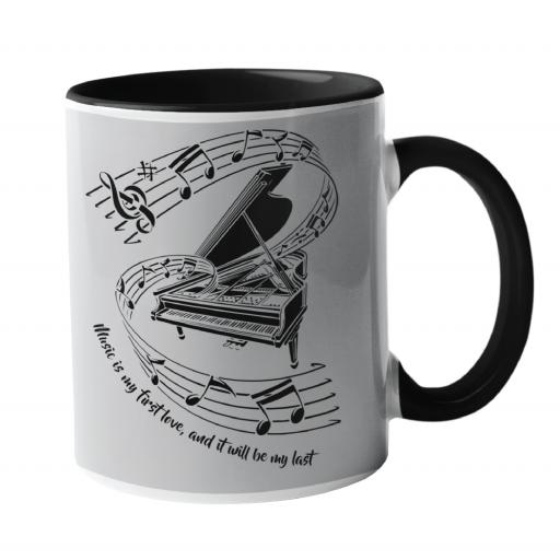 Music is my first love, Music Mug