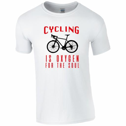 CY013 Cycling is the oxygen for the soul T-Shirt
