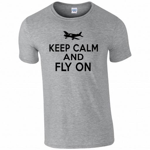 Keep Calm and Fly On Pilot Humour T-shirt