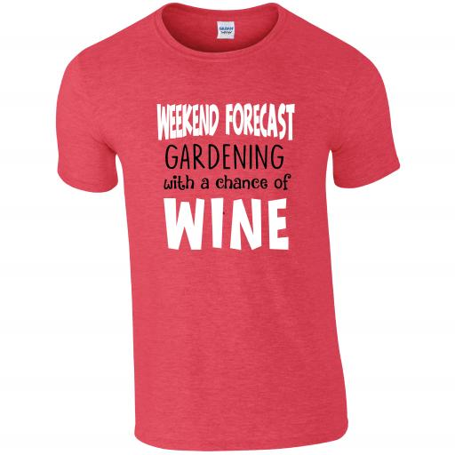Weekend Forecast Gardening Humour T-shirt