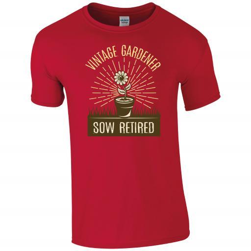 Vintage Gardening, Sow Retired! Gardening Humour T-shirt