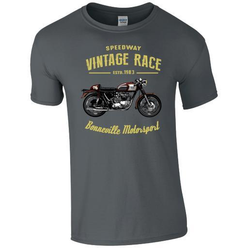 Speedway Vintage Race Bonnerville Motorsports T-Shirt