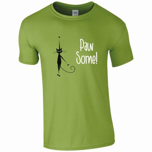 Pawsome Cat T-Shirt