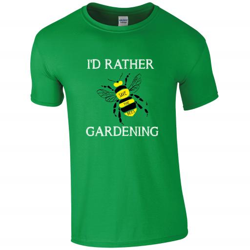 I'd Rather BEE Gardening, Gardening Humour T-shirt