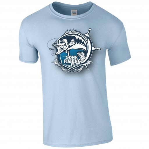 Gone fishing, Fishing Humour T-shirt