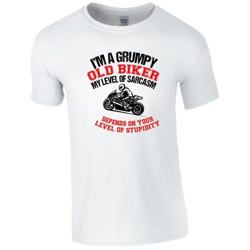 I'm a grumpy old biker, my level of sarcasm depends on your level of stupidity T-Shirt